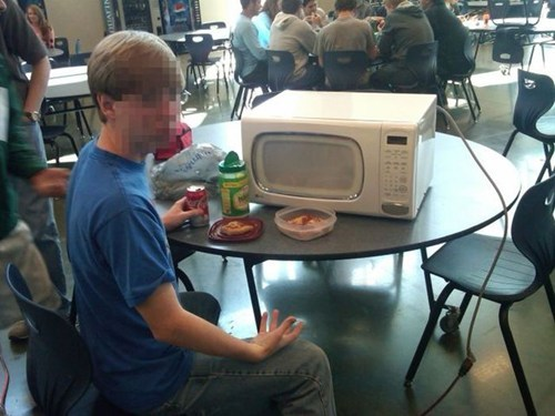 school dinner DIY food microwave
