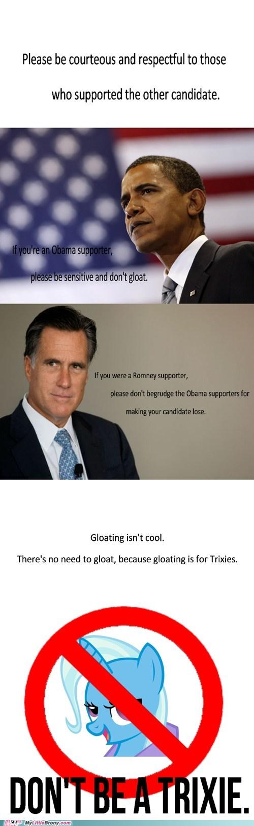 trixie,obama,Mitt Romney,president