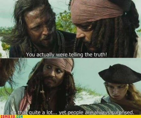 jack sparrow movies Pirates of the Caribbean lying