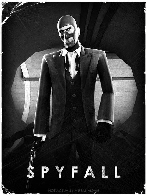 crossover,james bond,skyfall,spy,Team Fortress 2