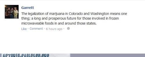 Colorado marijuana hot pockets frozen food