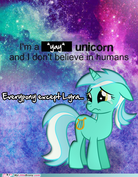 Sad unicorn lyra humans hands meme - 6744657920