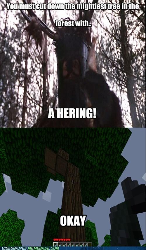monty python,hering,minecraft,nee