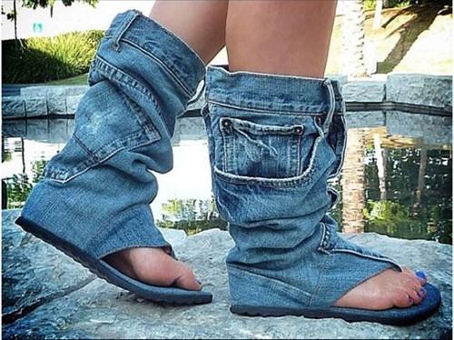 shoes jeans sandals - 6744984064