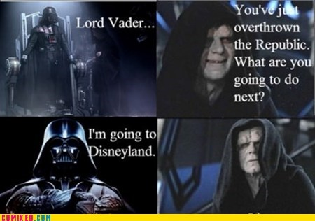 the darkside,star wars,darth vader,disneyland