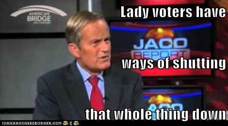Lady voters have ways of shutting that whole thing down