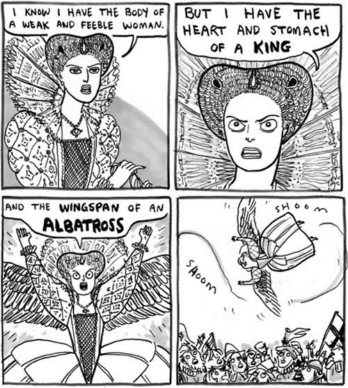 queen albatross comic Historical flying