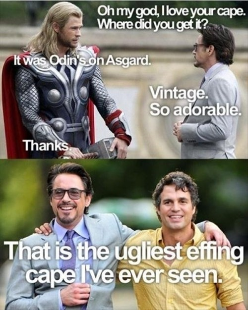 cape The Avengers mean girls