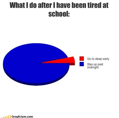 school,every time,sleepy,Pie Chart