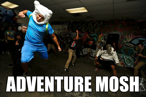 mosh pit,adventure time