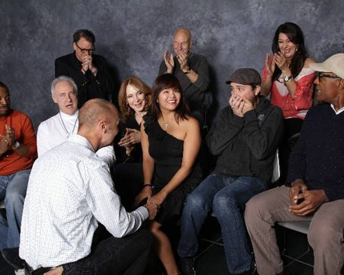 TNG photo op proposal surprise Star Trek