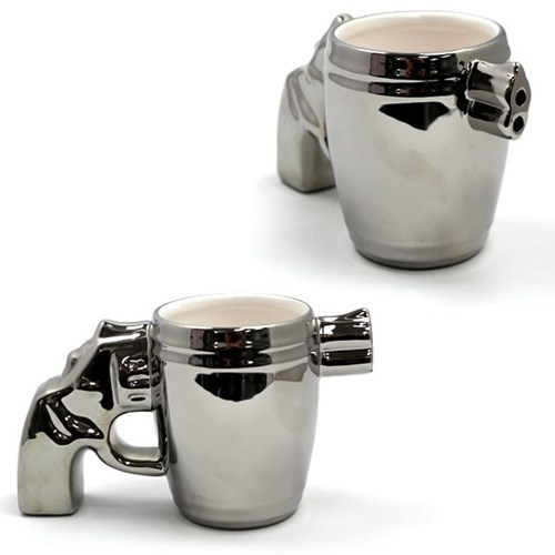 silver,cups,gun,coffee
