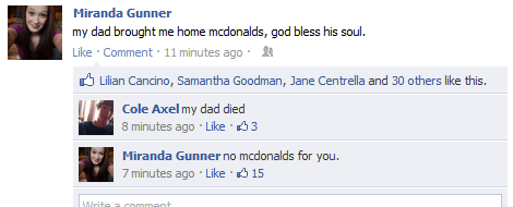 McDonald's facebook dead dad