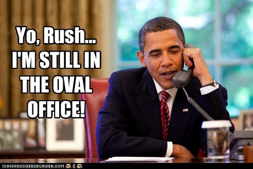 Oval Office,Rush Limbaugh,president,barack obama,prank calls,gloating,still here