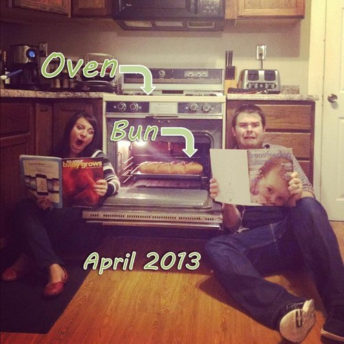 pregnancy,bun in the oven,announcement