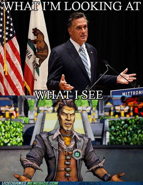 handsome jack,Mitt Romney,borderlands 2