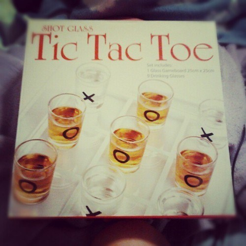 shot glasses tic tac toe drinking games