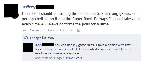 pundits drinking game simple enough election - 6745908480