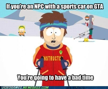 npc bad time meme Grand Theft Auto super cool ski instructor - 6745952512