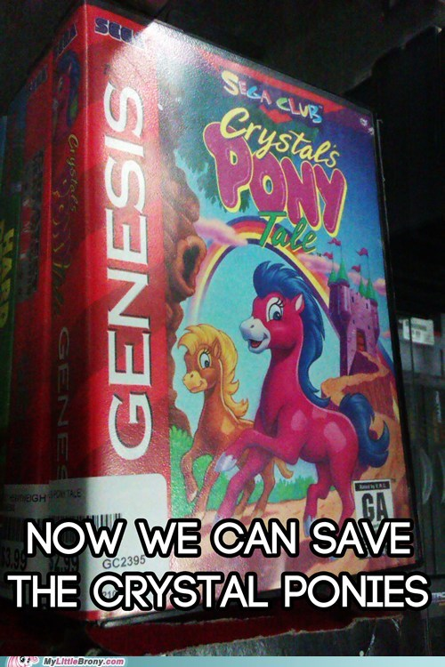sega,crystal ponies,video games
