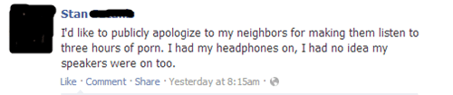 pron waking the neighbors partying headphones