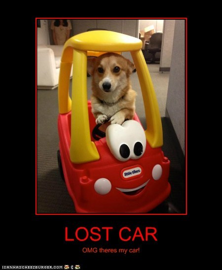 LOST CAR OMG theres my car!