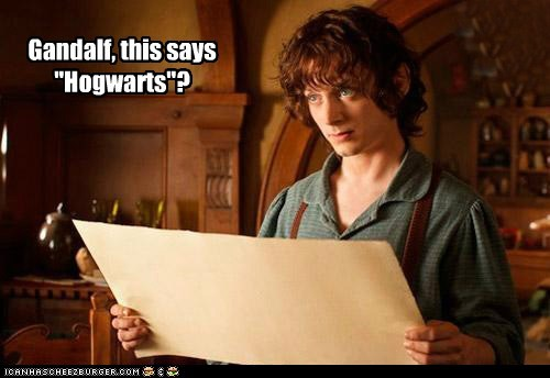 Lord of the Rings Frodo Baggins map gandalf wrong elijah wood Hogwarts - 6746511872