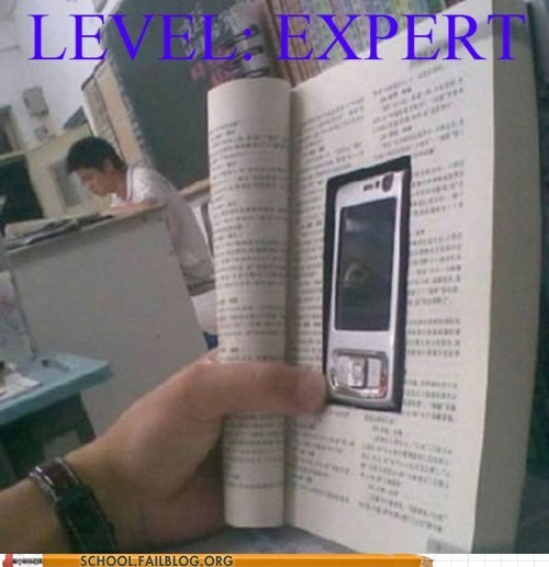 not paying attention reading in class phone g rated School of FAIL - 6746616832