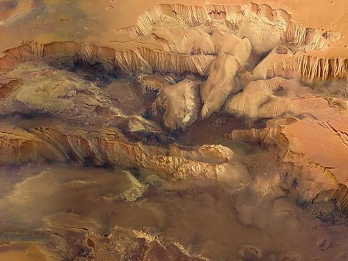 canyon,Mars,science,mountains