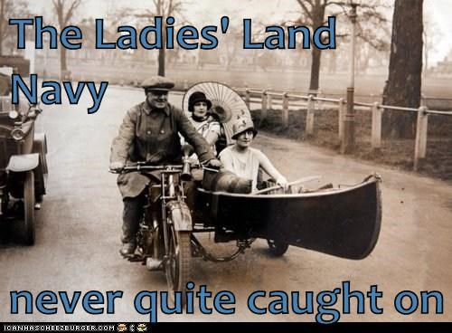 land,navy,canoe,bike,ladies,boat