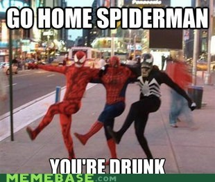 Spider-Man,drunk,costume