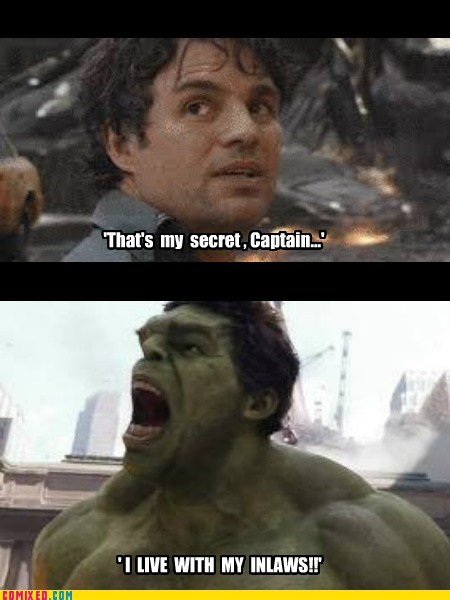 Movie in laws angry hulk avengers