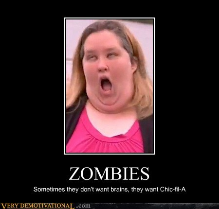 zombie,chic-fil-a,honey boo-boo