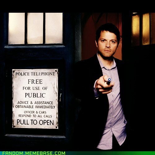 crossover,Supernatural,doctor who,misha collins,castiel
