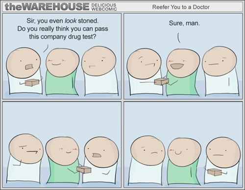 stoned done and done drug test the warehouse