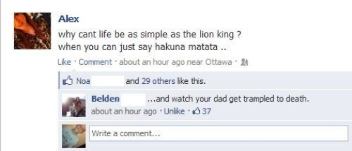 hakuna matata,exiled,mufasa,simba,lion king