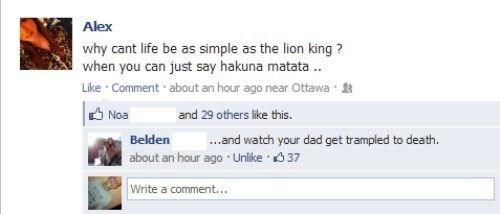 hakuna matata exiled mufasa simba lion king - 6748238592