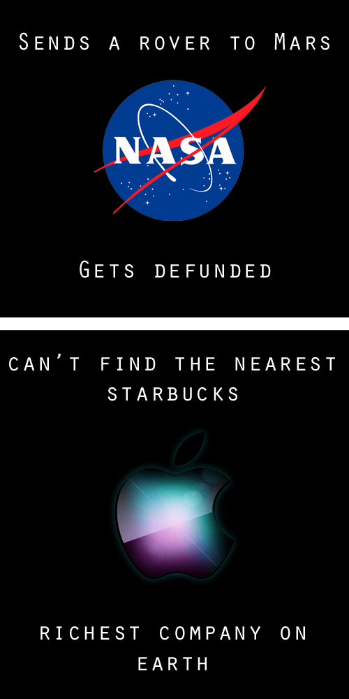 mars rover nasa apple maps curiosity ios 6 apple defunded