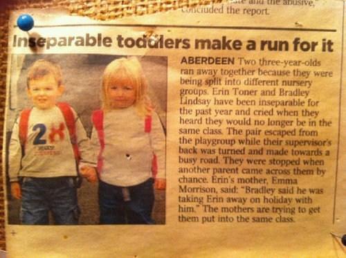 school toddlers runaways newspaper - 6748290816