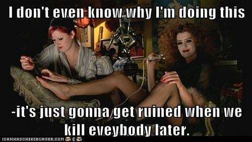 nails Rocky Horror Picture Show spoilers magenta ruined patricia quinn columbia nell campbell