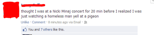 facebook,nicki minaj,homeless man