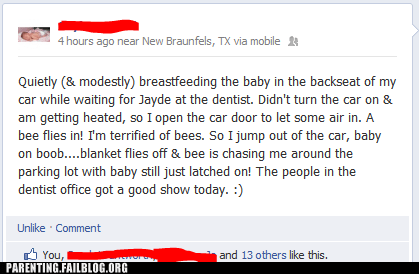 breastfeeding facebook bees