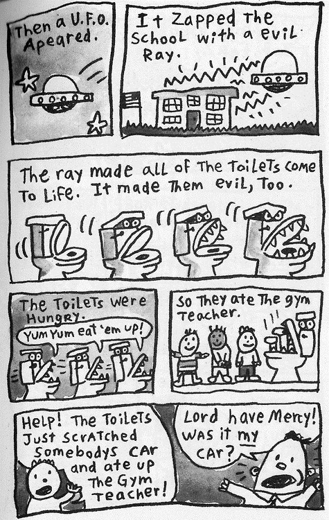 ufo evil toilet captain underpants - 6748724992