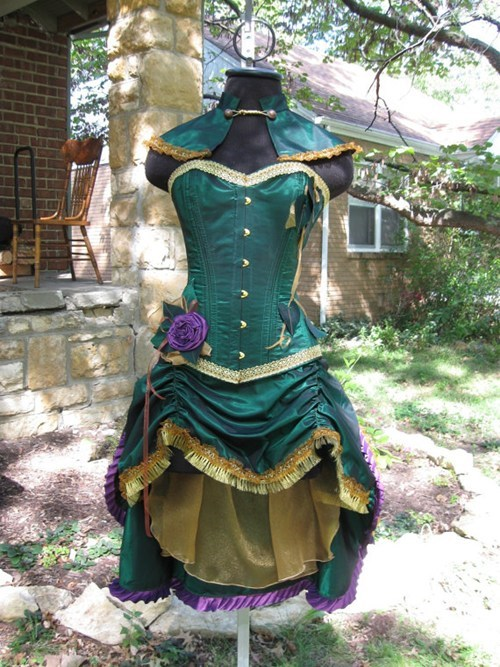 corset fashion Steampunk style poison ivy if style could kill - 6748949504