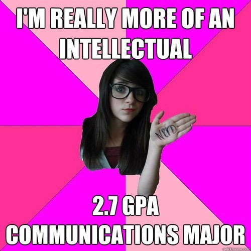 communications major,intellectual