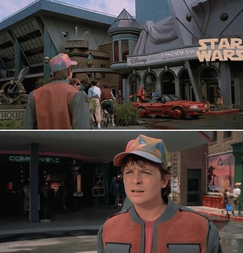 disney star wars back to the future 2015 confused michael j fox marty mcfly
