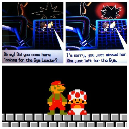 Pokémon,gym leader,gameplay,meme,mario