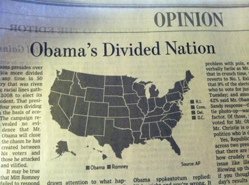 divided,grey,helpful,nation,barack obama,black and white,newspaper
