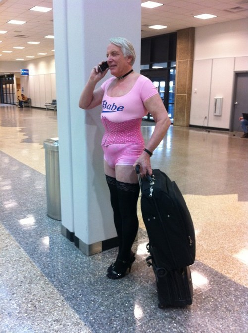 airport,pink,cross dressing