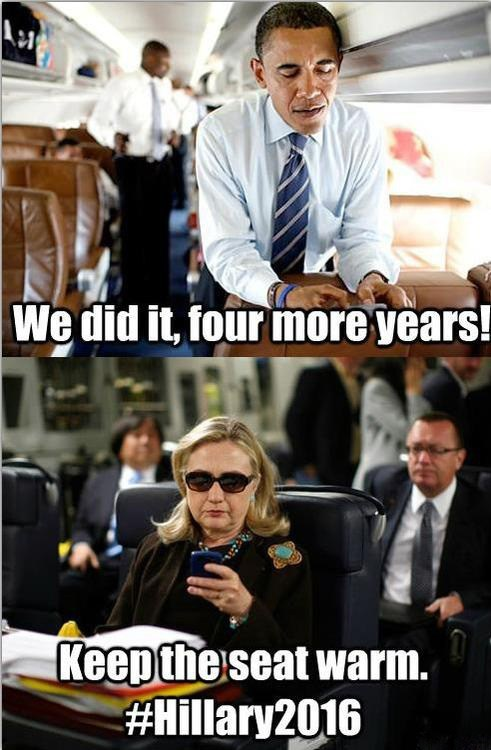 2016 four more years Hillary Clinton dismissive we did it barack obama - 6749251584